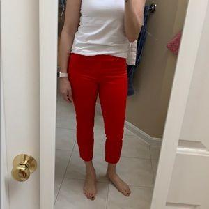 Slim Cropped Stretch Pants
